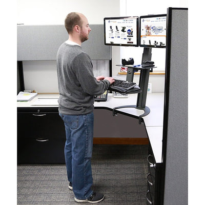 Health Postures Taskmate Go Dual 6350 3D View Standing
