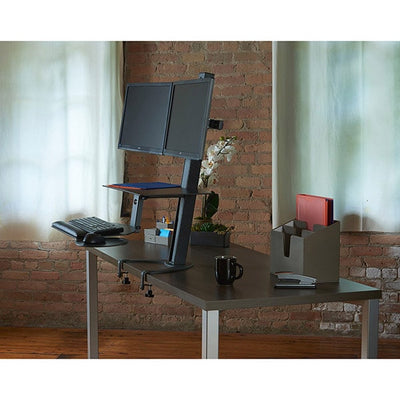 Health Postures Taskmate Go Dual 6351 Front Side View
