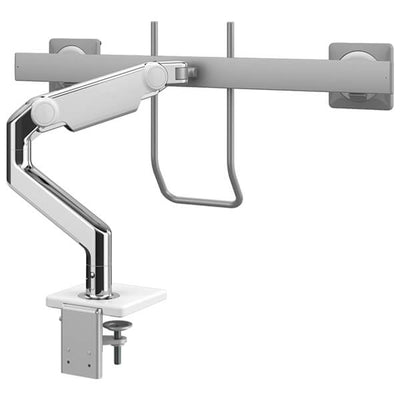 Humanscale M8.1 With Crossbar And Handle White  Back Side