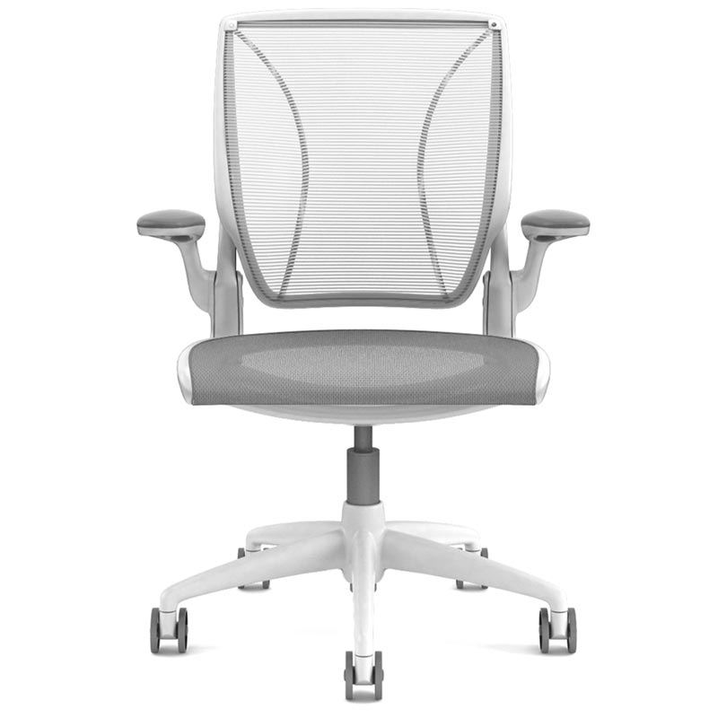 Humanscale Diffrient World Chair With Quick Ship Front View White