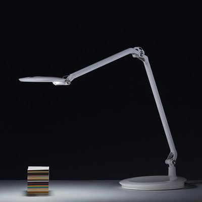 Humanscale Element Disc Task Light Side View Silver