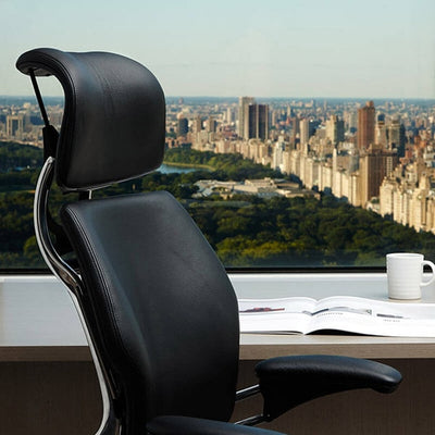 Humanscale Freedom Headrest Task Chair Front Side View Close Up