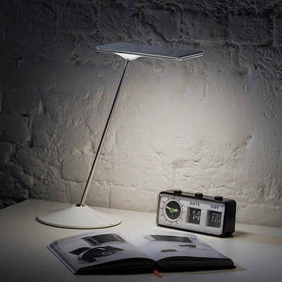 Humanscale Horizon LED Task Light Side View With Book