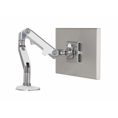 Humanscale M8 Monitor Arm Polished Aluminum With White Trim