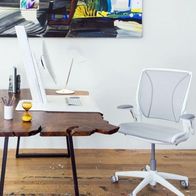 Humanscale QuickStand Eco Height Adjustable Workstation Side View