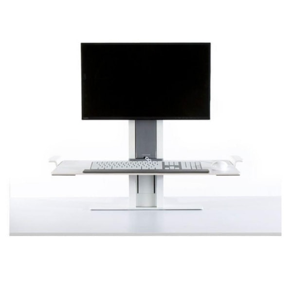 Humanscale QuickStand Height Adjustable Workstation Front View White