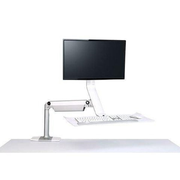 Humanscale QuickStand Lite Height Adjustable Workstation Single Monitor White