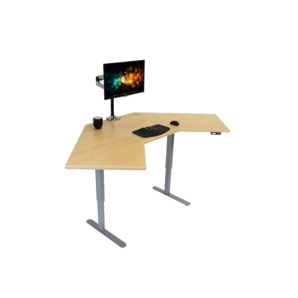 IMovR Energize Corner Standing Desk 3D View Facing Right