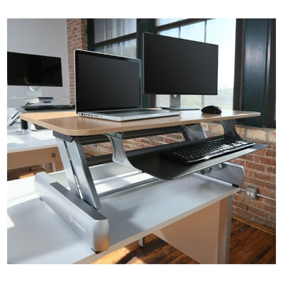 InMovement Standing Desk Converter DT2 3D View Dual monitor