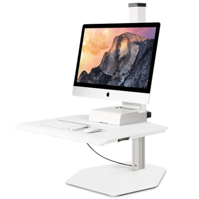 Innovative Winston Workstation Apple iMac Single Sit Stand 3D View
