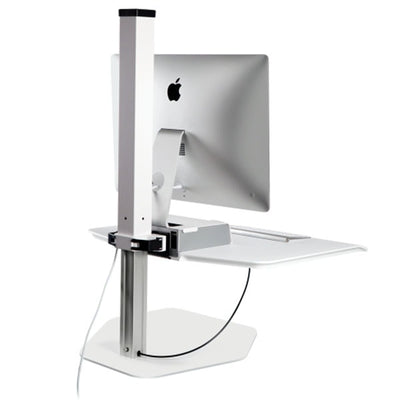 Innovative Winston Workstation Apple iMac Single Sit Stand Back View