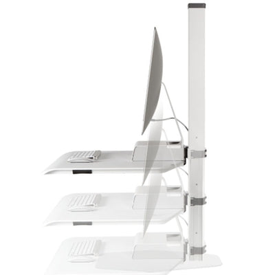 Innovative Winston Workstation Apple iMac Single Sit Stand Side View