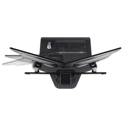 Innovative Winston Workstation Dual Monitor Sit Stand Top View