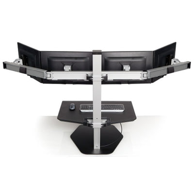 Innovative Winston Workstation Quad Sit Stand Back View