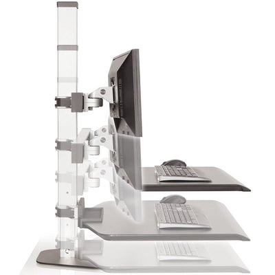 Innovative Winston Workstation Single Monitor Sit Stand Height Setting