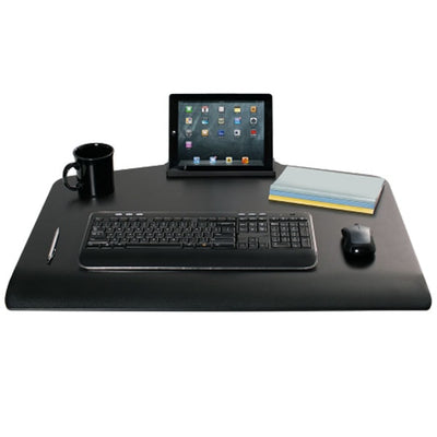 Innovative Winston Workstation Triple Monitor Sit Stand Keyboard Tray