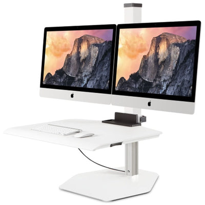 Innovative Winston workstation Apple iMac Dual Sit-Stand 3D View