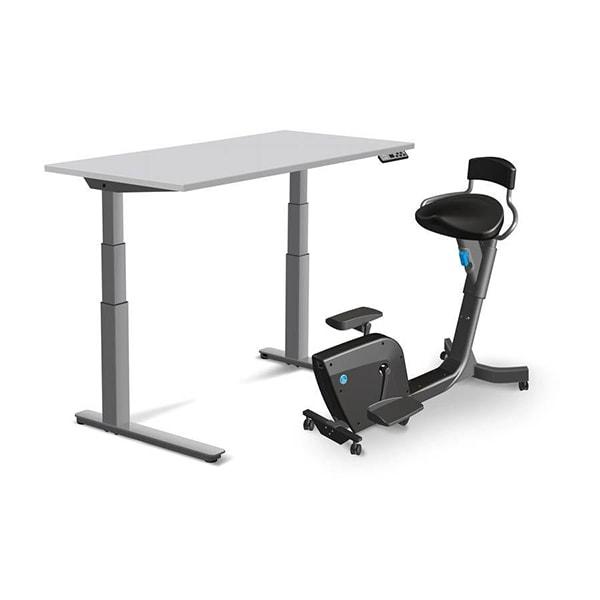 Lifespan Solo Under Desk Bike 3D View Beside Desk