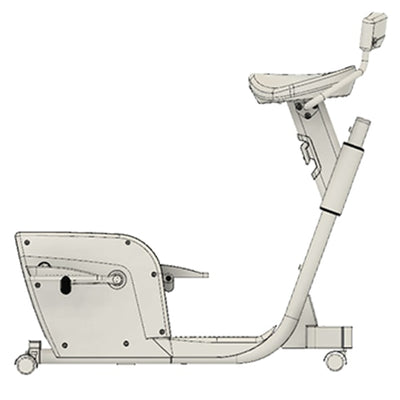 Lifespan Solo Under Desk Bike Side View