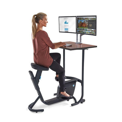 Lifespan Unity Bike Desk 3D View Sitting