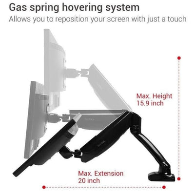 Loctek D5 Monitor Arm Max Extension Max Height