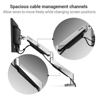Loctek D7A Monitor Arm Cable Management