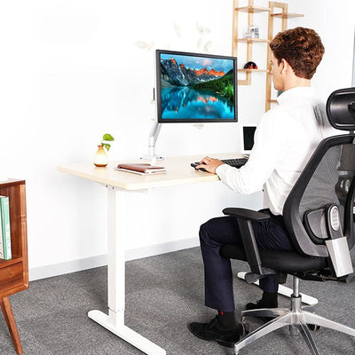 Loctek D7A Monitor Arm Front View Sitting