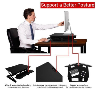 Loctek LX36 Sit-Stand Desktop Workstation Sitting Better Posture