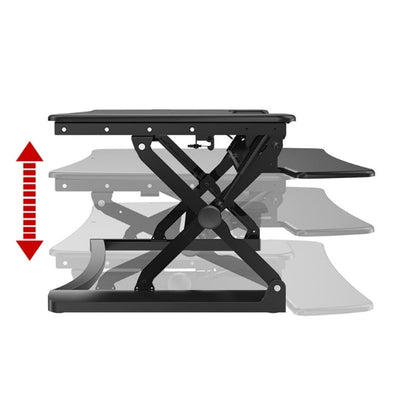 Loctek LXR30 Standing Desk Converter Height Setting