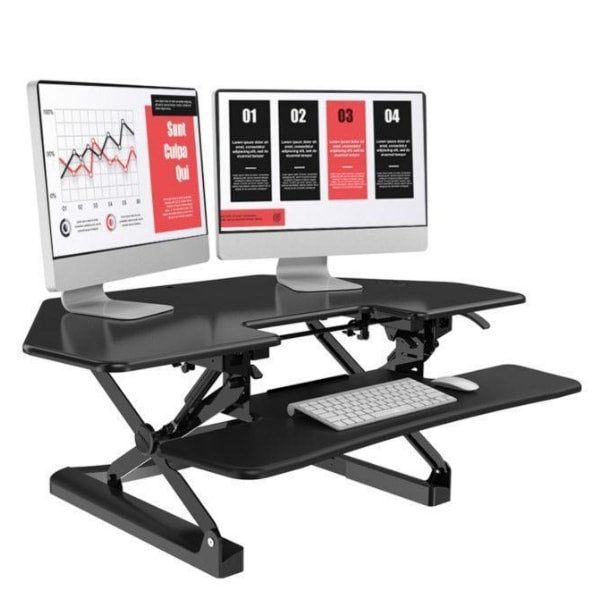 Pleasant Loctek Lxr41 Corner Standing Desk Converter Download Free Architecture Designs Grimeyleaguecom
