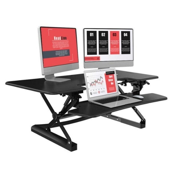 Loctek LXR48 Standing Desk Converter Dual Monitor And Laptop