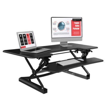 Loctek LXR48 Standing Desk Converter Monitor  Laptop And Keyboard