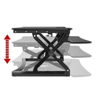 Loctek PL36 Standing Desk Converter Height Setting