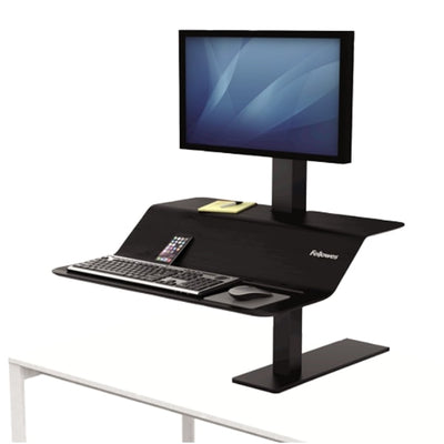 Lotus VE Sit Stand Workstation 3D View Single Monitor
