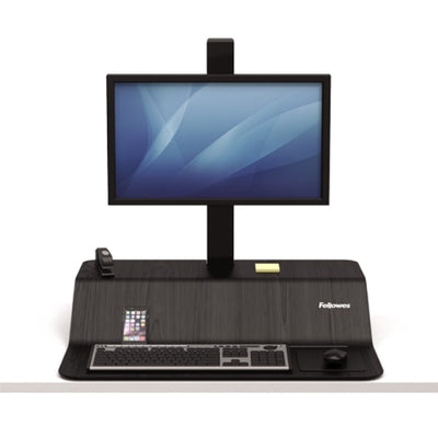 Lotus VE Sit Stand Workstation Front View