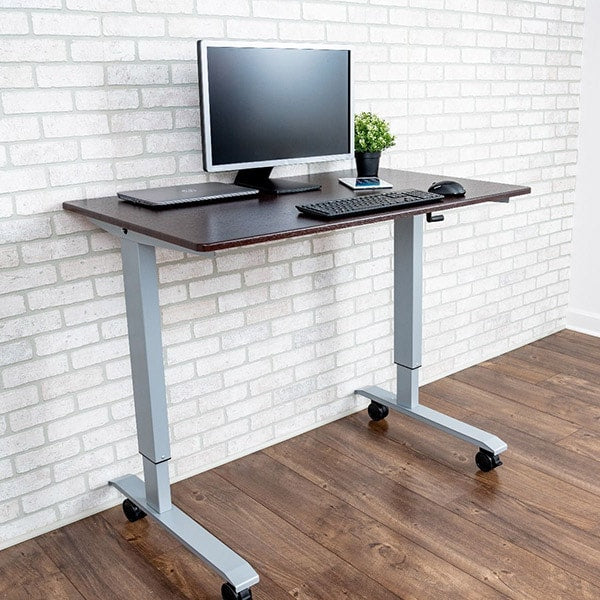 ... Luxor 48 Crank Adjustable Stand Up Desk 3D View Facing Right ...