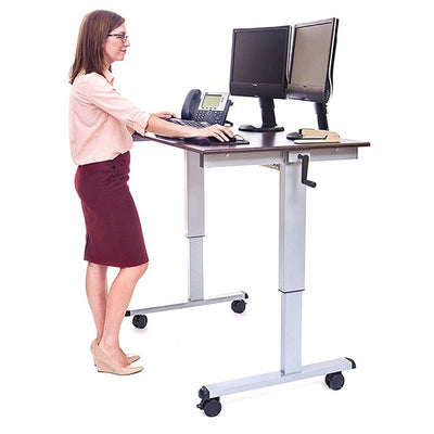 Luxor 48 Crank Adjustable Stand Up Desk 3D View Standing