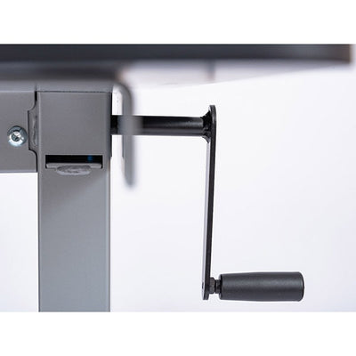 Luxor 48 Crank Adjustable Stand Up Desk Front View Crank