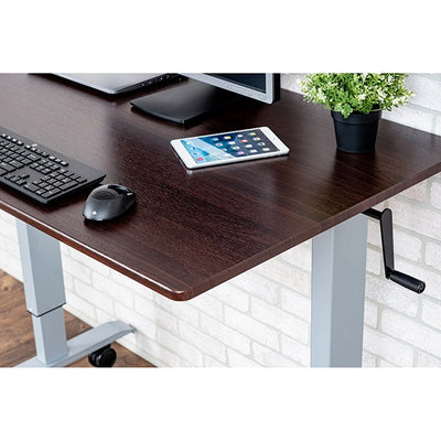Luxor 48 Crank Adjustable Stand Up Desk Top Close Up