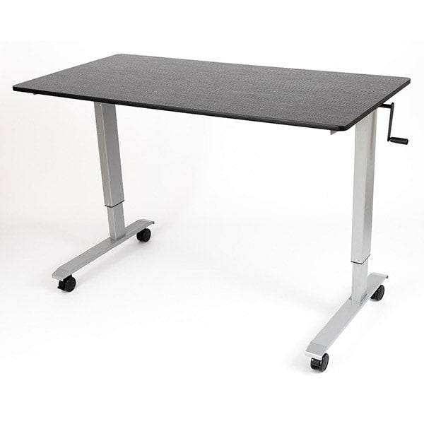 Luxor 60 Crank Adjustable Stand Up Desk 3D View