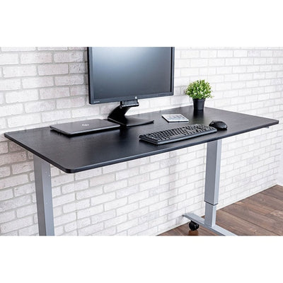 Luxor 60 Crank Adjustable Stand Up Desk 3d View Facing Right