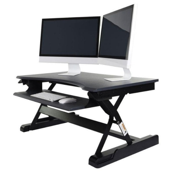 Luxor Level Up Premier Standing Desk Converter 3D View Raised
