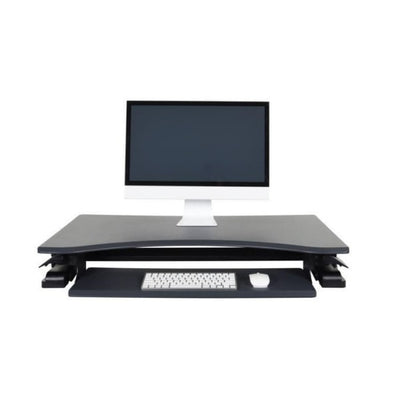 Luxor Level Up Premier Standing Desk Converter Front View Compressed