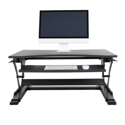 Luxor Level Up Premier Standing Desk Converter Front View Raised