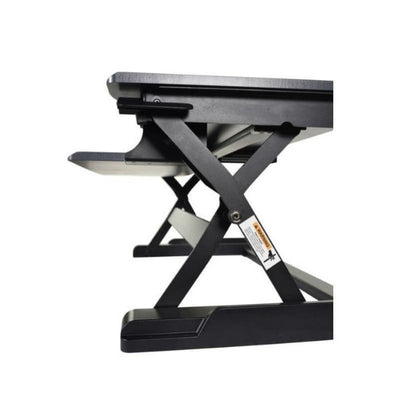Luxor Level Up Premier Standing Desk Converter Side View