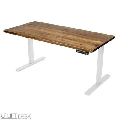 Uplift Height Adjustable Standing Desk w/ Reclaimed Wood Top - Standing Desk Nation