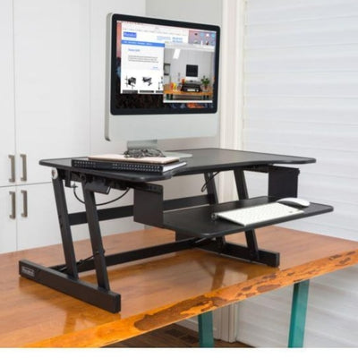 Rocelco ADR Adjustable Desk Riser 3D View On The Table