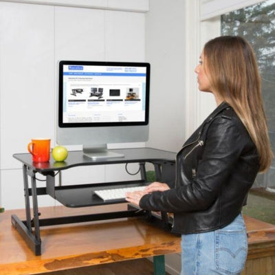 Rocelco ADR Adjustable Desk Riser 3D View Standing