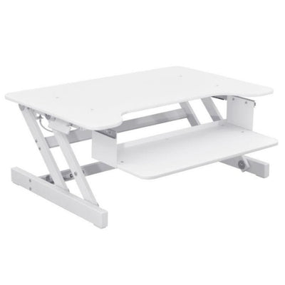 Rocelco ADR Adjustable Desk Riser 3D View White