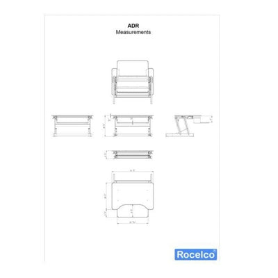 Rocelco ADR Adjustable Desk Riser Profile View